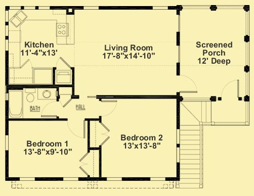 Architectural house plans floor plan details garage with 2 bedroom apartment