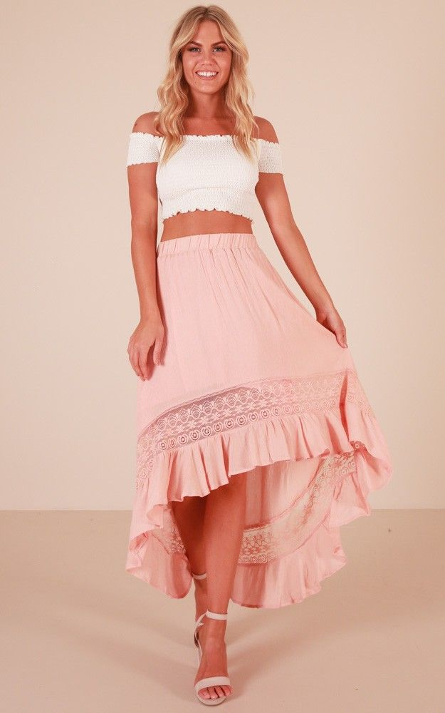 a96b770f7603 Keep My Secret Skirt In Blush Produced   Summer 2018   Skirts, Lace ...