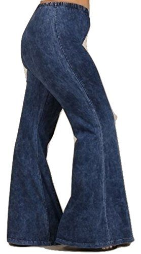 Plus Size Bell Bottom Jeans - Stretchy Mineral Washed Yog... https://www.amazon.com/dp/B01M8GR788/ref=cm_sw_r_pi_dp_x_XWv.xbGBG9J9G