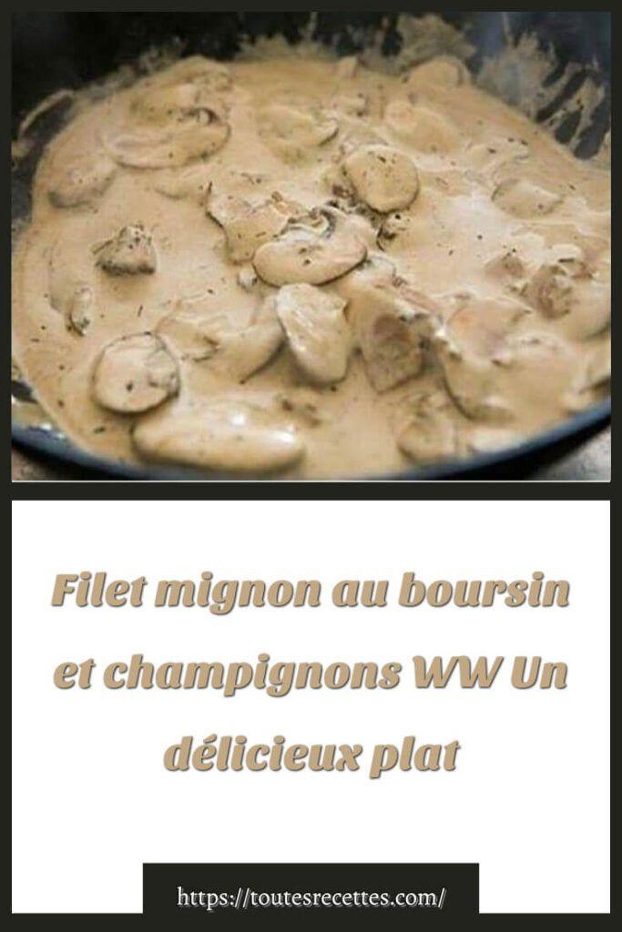 Filet Mignon Boursin Cookeo : filet, mignon, boursin, cookeo, Comment, Préparer, Filet, Mignon, Boursin, Champignons, Recette, Cookeo,, Mignon,