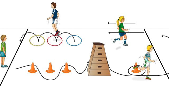 Jeux de courses de relais