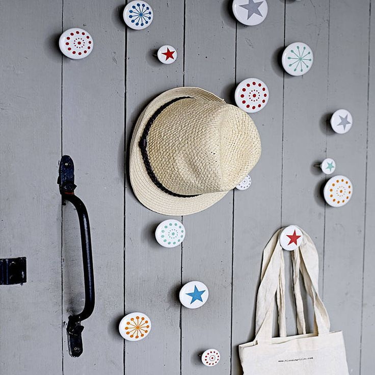 set of three star coat hooks by idyll home | notonthehighstreet.com