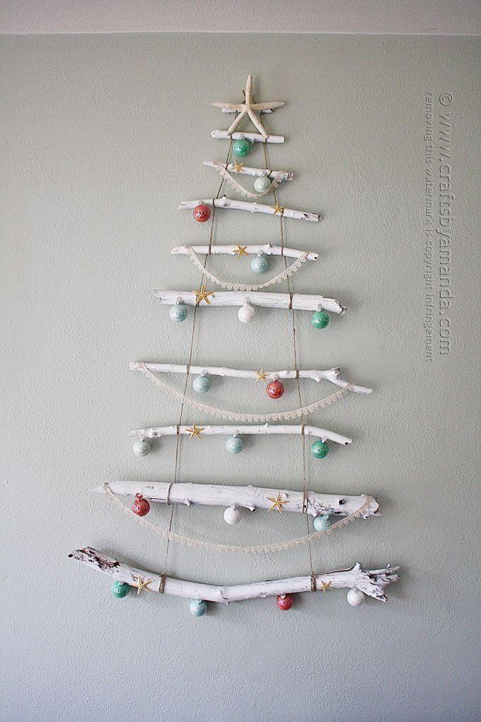 Coastal Branch Tree for Christmas by Amanda Formaro