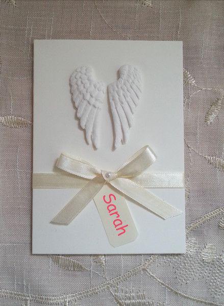 Einladungskarten - Einladung Taufe Taufeinladung Flügel 3d Karte - ein…