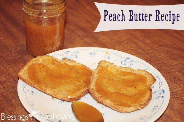 Peach Butter | Recipe