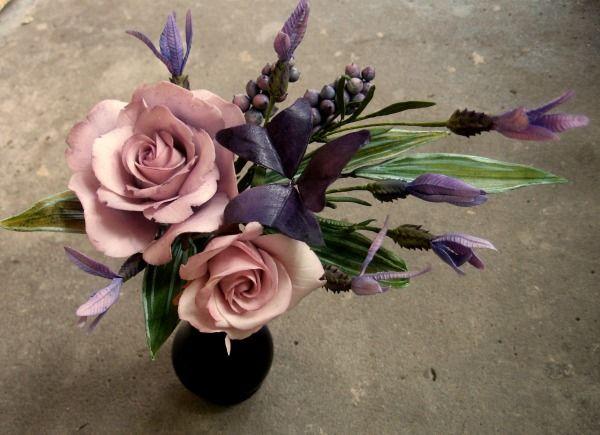 Purple gumpaste flower