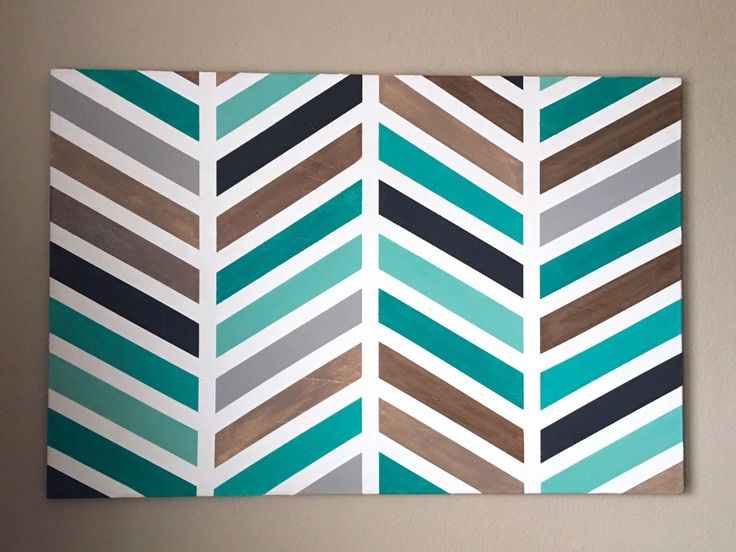 Herringbone Painting - Original Wall Art - Large Canvas Painting by HillCountryREHASH on Etsy https://www.etsy.com/listing/257882769/herringbone-painting-original-wall-art