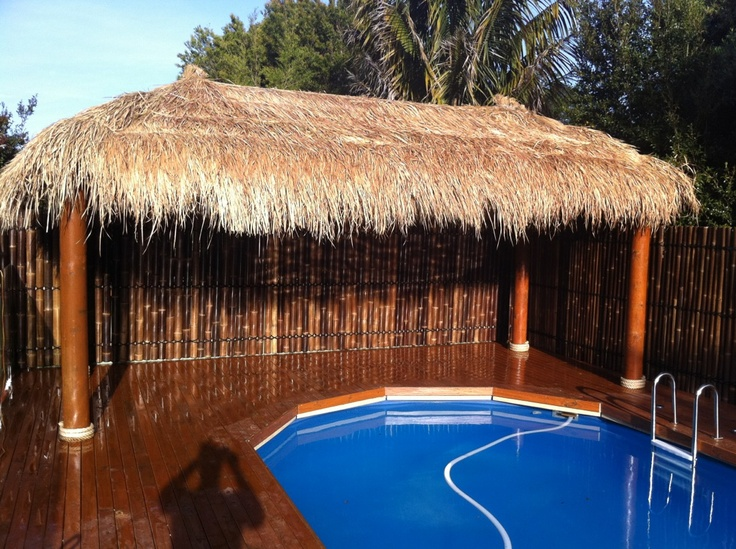1000 images about aarons bamboo fencing on pinterest for Pool hut designs