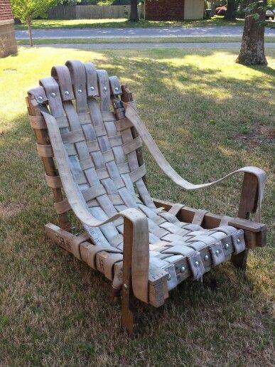 Firehose adirondack chair