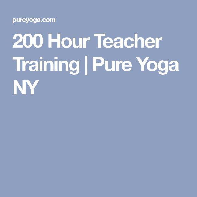 200 Hour Teacher Training | Pure Yoga NY