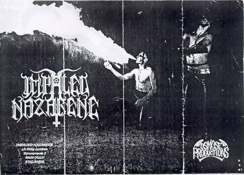 Early 90s black metal old impaled nazarene promo photo