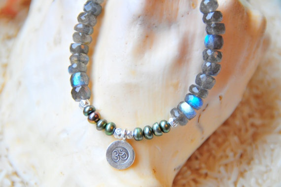 Brilliant blue labradorite bracelet with Thai hill by Tarinee, $40.00