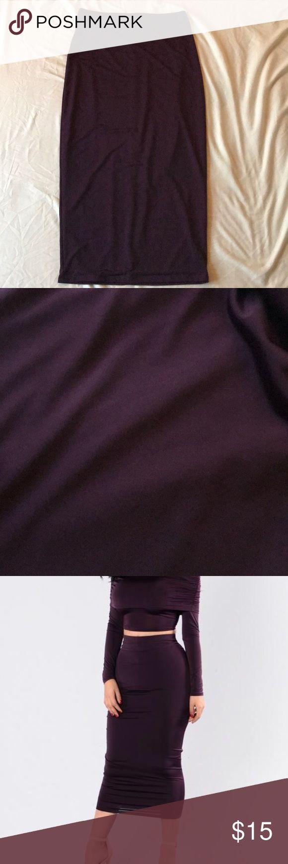 Plum Bodycon Midi Skirt Nice material super cute NWT Fashion Nova Skirts Midi