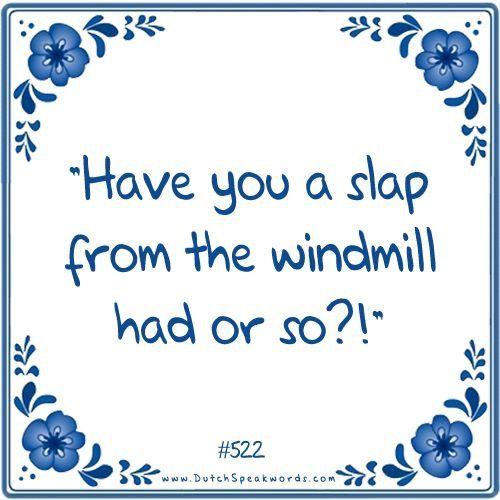 Heb je een klap van de molen gehad of zo?
