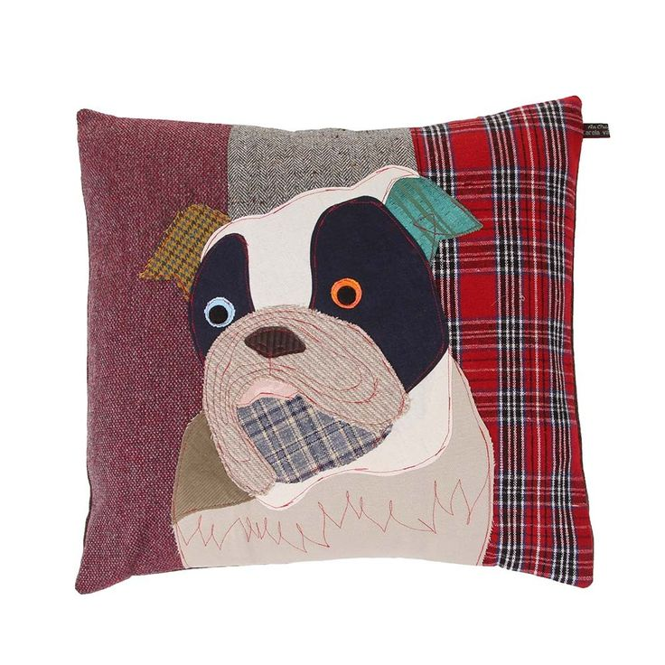 Discover the Carola Van Dyke Edgar the Bulldog Cushion at Amara