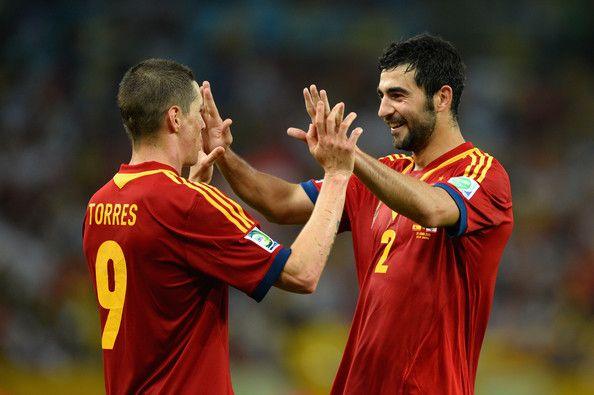 Spain football stars | Fernando Torres & Raúl Albiol