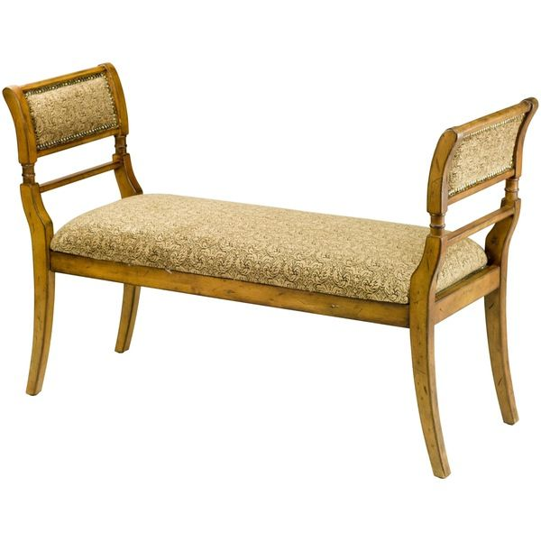 The Biedermeier-style Brody bench is a vision of sophistication and simplicity. The gentle curves of light oak-finished birch legs enhance the soft, light brown hue and subtle paisley pattern of the cotton fabric. Brody's aesthetic restraint makes it a graceful addition to the entry hall or the end of the bed to pile on dog-eared volumes and lush, cashmere throws.