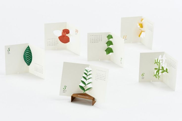 Platinum Winner: Calendar Design | Title: Botanical Life | Client: good morning inc. | Creative Firm: good morning inc. – Tokyo, Japan