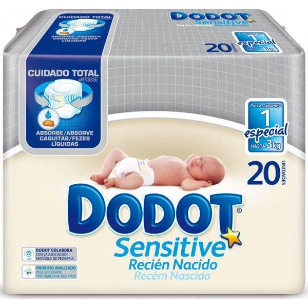 Comprar Pañales Recién Nacido Dodot Sensitive 20 uds online - by Bebitus