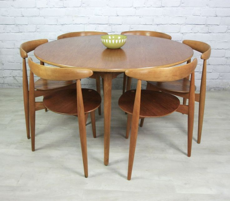 Vintage Hans Wegner For Fritz Hansen Heart Danish Dining