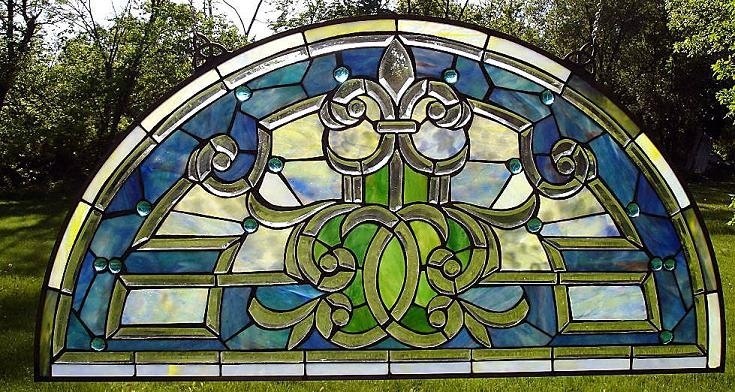 40 Best Images About Stained Glass Half Moon Windows On