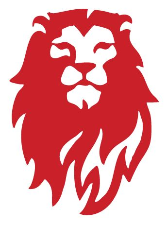 Red Lion Logo Lion head alone