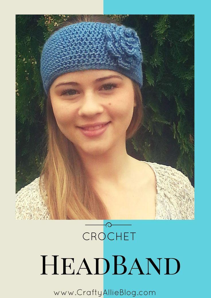 Mejores 270 imágenes de Crochet Headbands en Pinterest | Cintas para ...