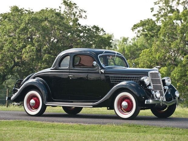 1935 Ford Deluxe Five Window Rumble Seat Coupe Car