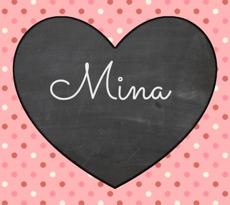 "30 Baby Names Inspired By LOVE  A German girl's name meaning ""love"". we call my sister brianna mina, cute"