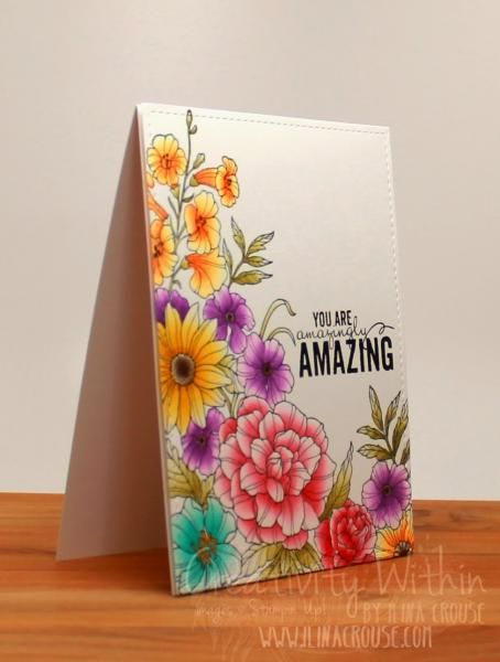 Corner Garden Meets Chameleon Pens by ilinacrouse - Cards and Paper Crafts at Splitcoaststampers