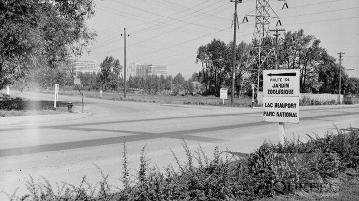 Voici à quoi ressemblait l'intersection du boulevard Henri-Bourassa et du chemin de la Canardière, secteur Maizerets, en 1942.