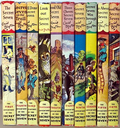 Secret Seven books by English author, Enid Blyton. Another fun children's adventure, mystery series.