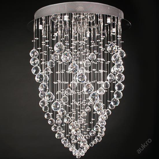 Krystal stropní svítidlo 6-světla 70cm