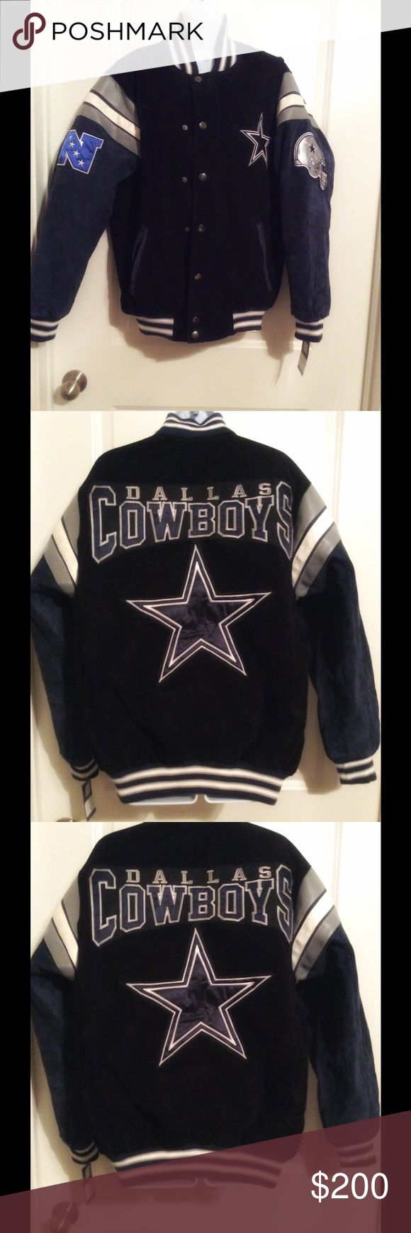 NWT Dallas Cowboys 100% leather jacket NWT 100% leather Dallas Cowboys jacket. In mint condition. NFL  Jackets & Coats