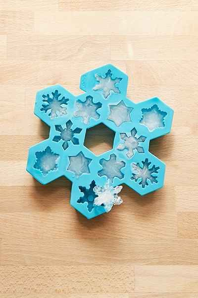 Snowflake Ice Tray, blue, silicone $14 | Urban Outfitters