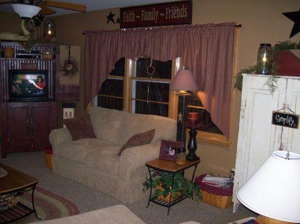 663 best images about Primitive Living Rooms on Pinterest