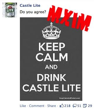 Castle Lite   Keep calm meme   Facebook fail   Social media   South Africa