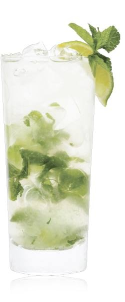 and basil leaves and vodka add ice top with soda water add agave ...