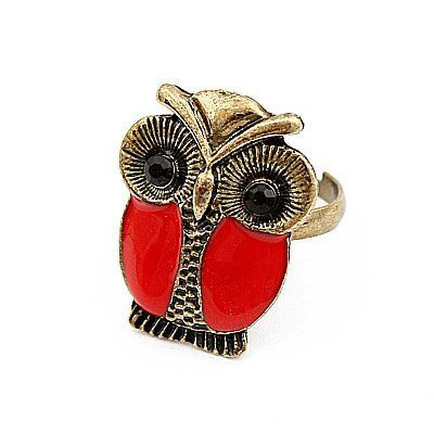Korean Retro Fashion OWL Delicate Ring General. Small and catchy. REPIN if you like it.😍 Only 15.5 IDR