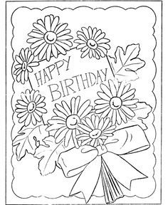 Best 50+ Happy Birthday coloring Pages images on Pinterest