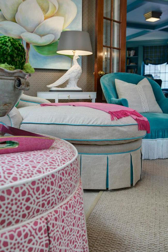 House Of Turquoise Ottomans