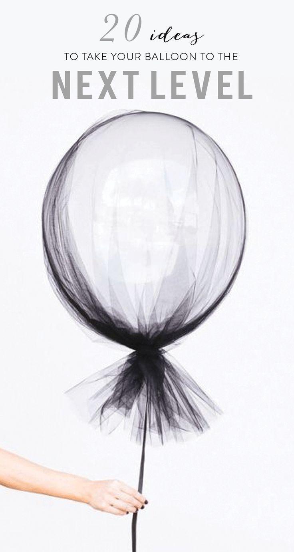 Einfache Möglichkeiten, Ihren Partyballon auf die nächste Stufe zu bringen! www.stylemepretty