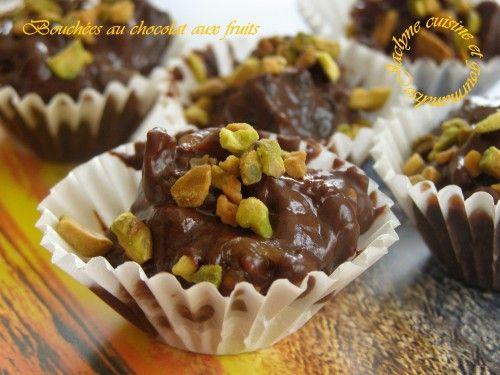 Bouchées au chocolat et fruits moelleux