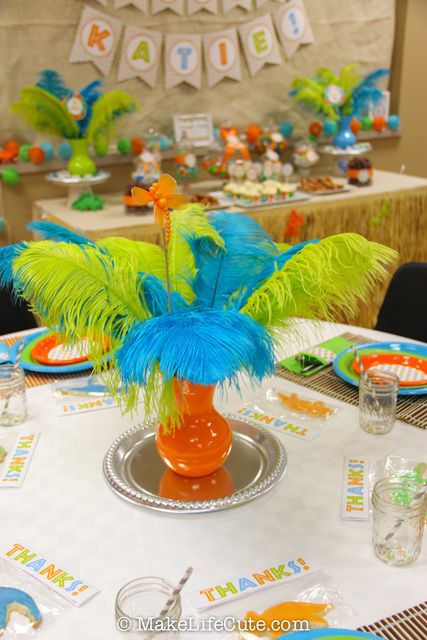 Superior Decorations At A Dinosaur Baby Shower #dinosaur #babyshowerdecorations