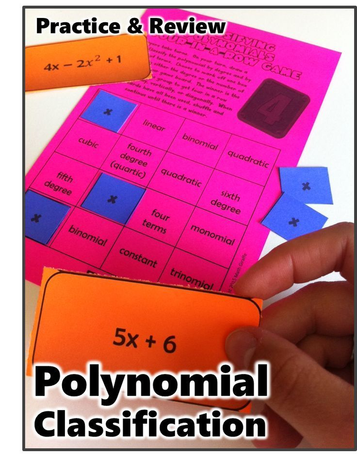 Free Algebra game for classifying polynomials by degree and number of terms