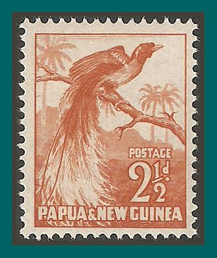 Papua New Guinea Stamps 1952 Bird of Paradise, mint