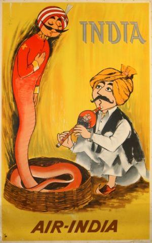 Original Vintage Posters -> Travel Posters -> India - Air India - AntikBar