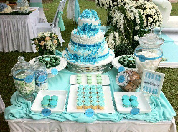 Tiffany blue candy buffet tiffany blue baby shower pinterest