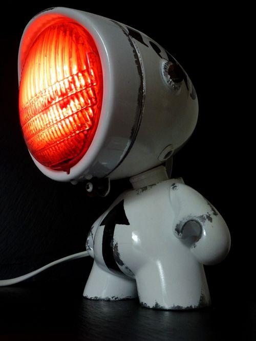 Phares Customises En Lampe Lampe Phare Lamp Lampe Atelier
