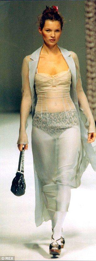 Kate walking atDolce and Gabbana., during Milan Fashion Week